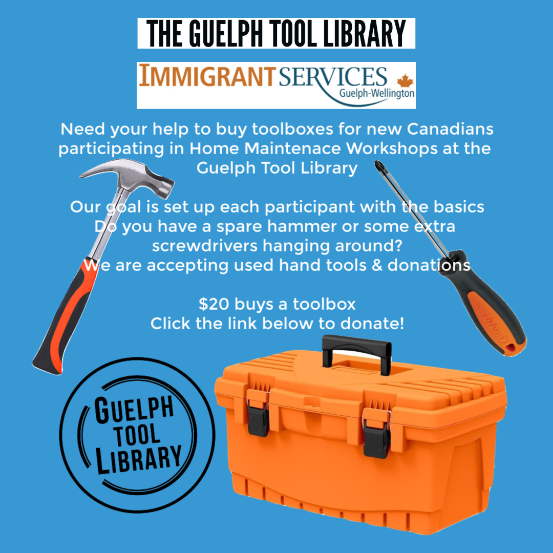 Toolbox Drive for New Immigrants – Guelph Tool Library